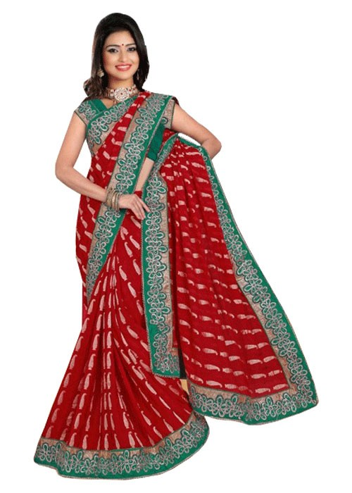 MULTI COLOR BUTTI FULLWORK SAREE