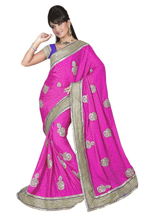 PURE SILK WEDDING WEAR SAREE