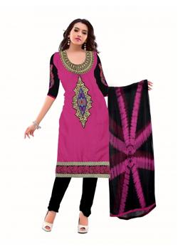 pink and black embroidered salwar kameez