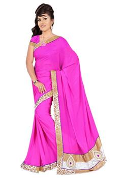 PLAIN BROCKET BORDER SAREE