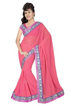 BROCKET VELVET CUTTING BORDER SAREE