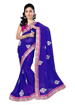 ROYAL SAREE WITH CONTRAST KASAB BUTTA AND BORDER