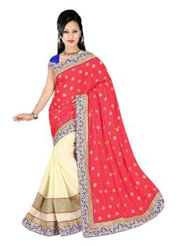 HALF AND HALF JUTE DESIGNER SAREE