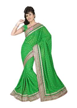 SILK DOUBLE MOTIWORK BORDER SAREE
