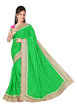 ELEGANT SAREE WITH RICH BORDE