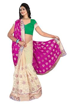 LAHENGA STYLE WEDDING WEAR SAREE