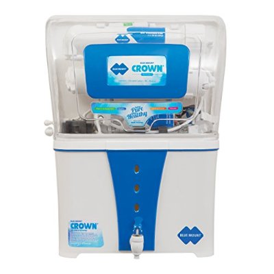 BLUE MOUNT CROWN PLUS BM 54 12 LITER WATER PURIFIER (WHITE/BLUE)