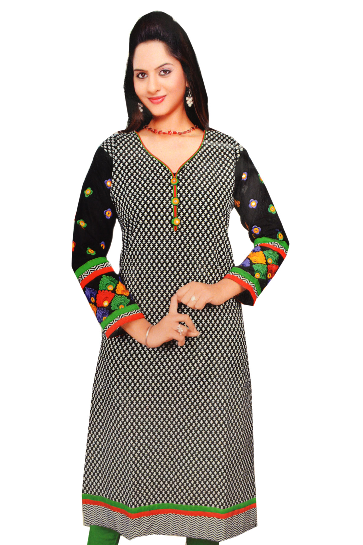 BLANK AND GREEN KURTI