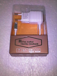 NEW METAL CABLE TRAVEL CHARGER BEST QUALITY
