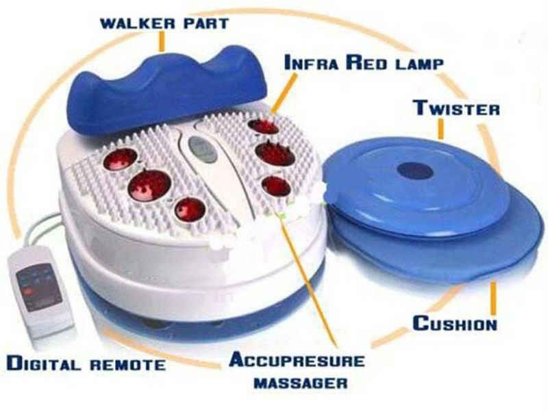 3 IN 1 MORNING WALKER WITH ACUPRESSURE & INFRARED(WHITE)