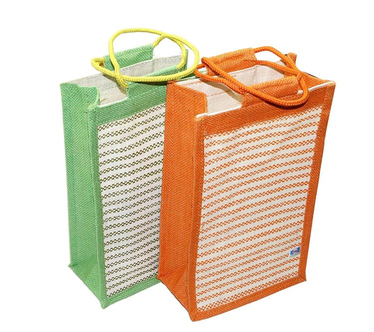 2 pack jute bag for tiffin