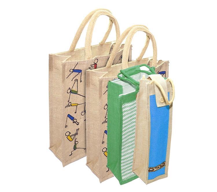 4 Pack Combo Jute Bag
