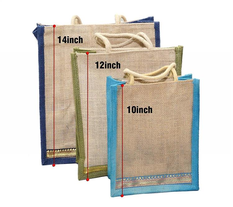 3 pack Diff Size Jute Bag