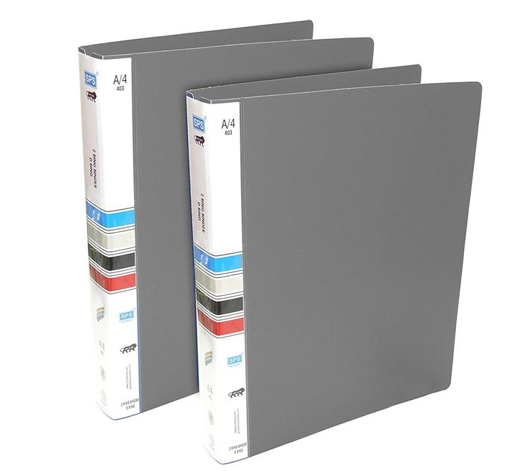 Binder File - 2 Pack- Grey