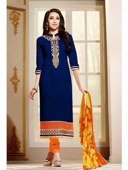 Latest Exclusive Blue Color Salwar Suit
