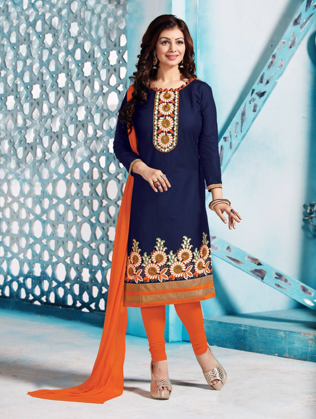 Latest Exclusive Blue Color Salwar Suit