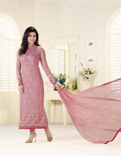 �Beautiful Designer Pink Georgette Salwar Suit