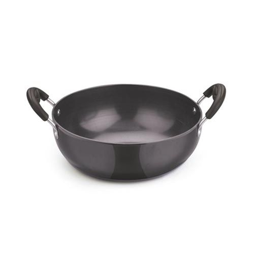 Kitchen Essentials Hard Anodised - Deep Kadai, 3 mm (08/150), 8 Inch