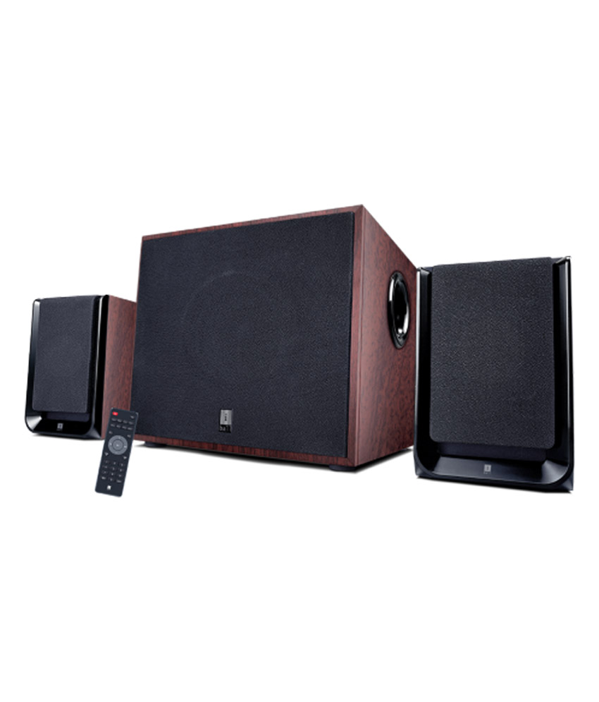 IBALL NIGHTINGALE MULTIMEDIA SPEAKERS 2.1 COMPUTER SPEAKERS BLACK N WOODEN