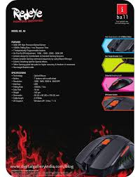 iBall RedEye A9 gaming mouse
