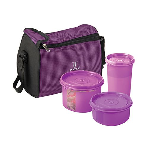 Joyo Fresherware Airtight Bento Set - Purple, 4 pcs
