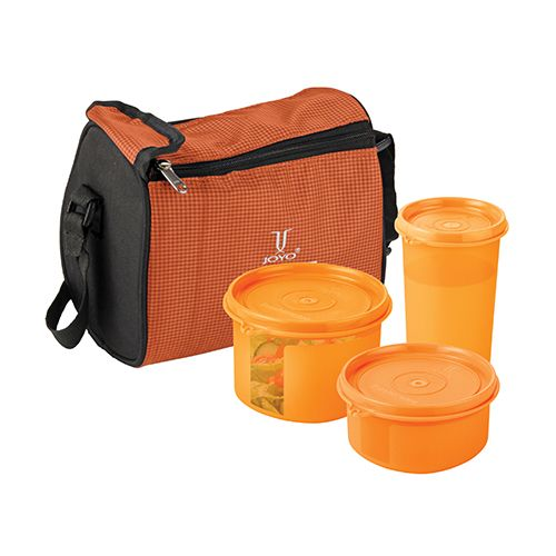 Joyo Fresherware Airtight Bento Set - Orange, 4 pcs