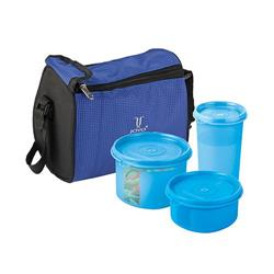 Joyo Fresherware Airtight Bento Set - Blue, 4 pcs