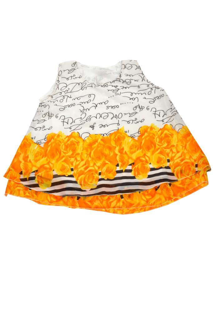 Designer White & Orange Top