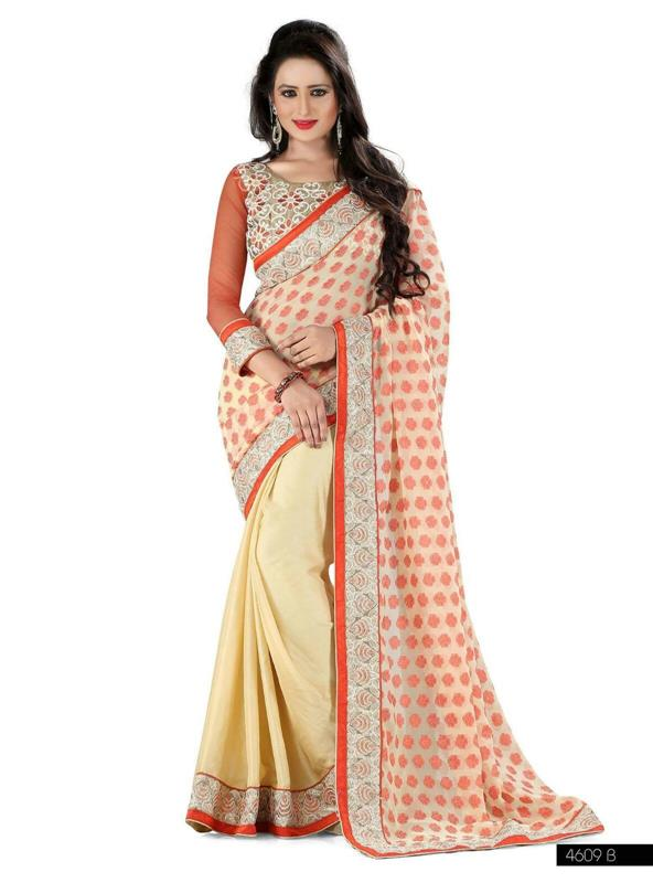 Attractive White Braso saree