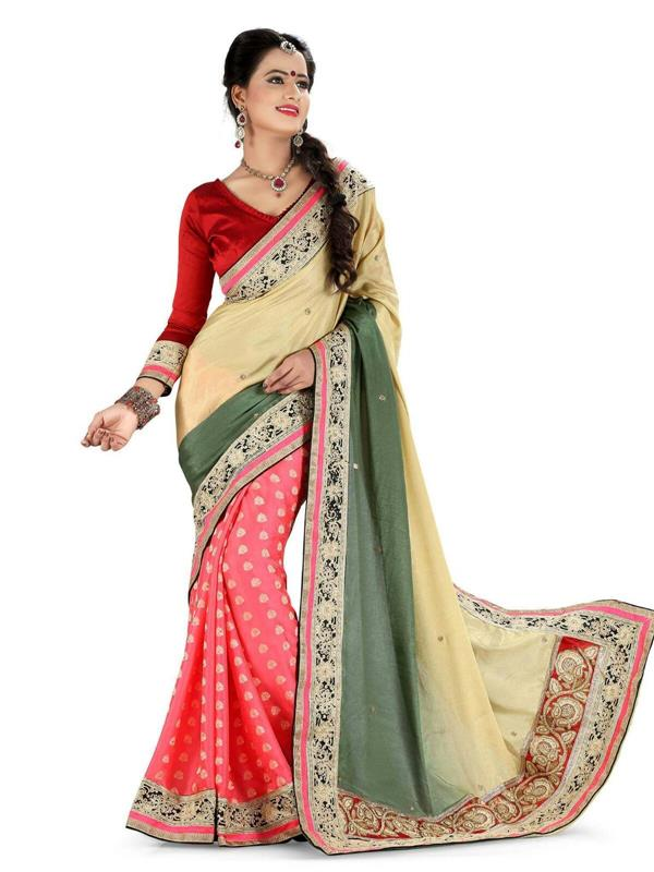 Beautiful rich border saree