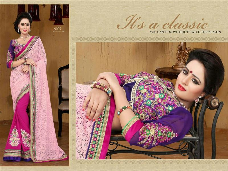 Beautiful Pink chicken pallu saree