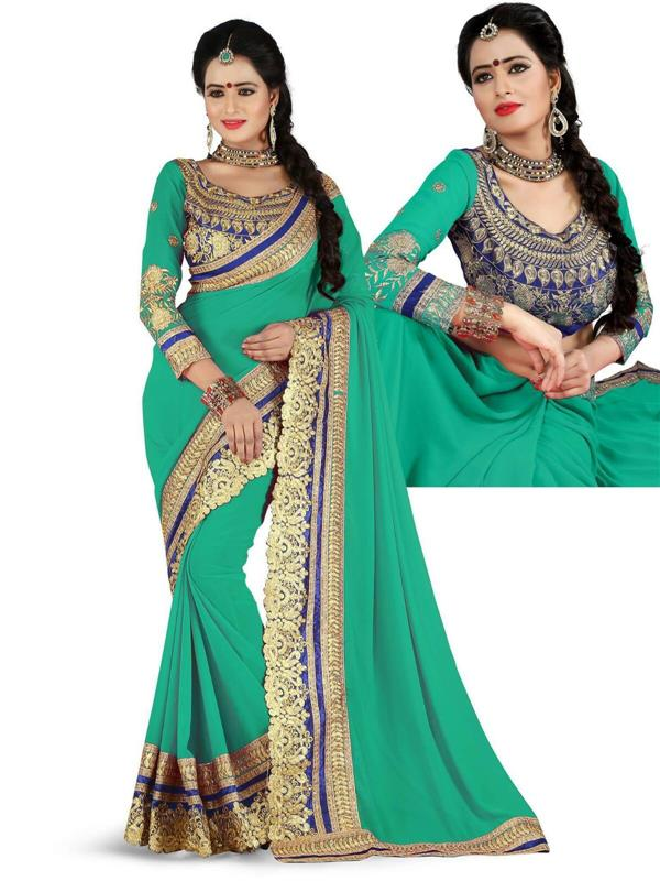 Royal Golden work saree