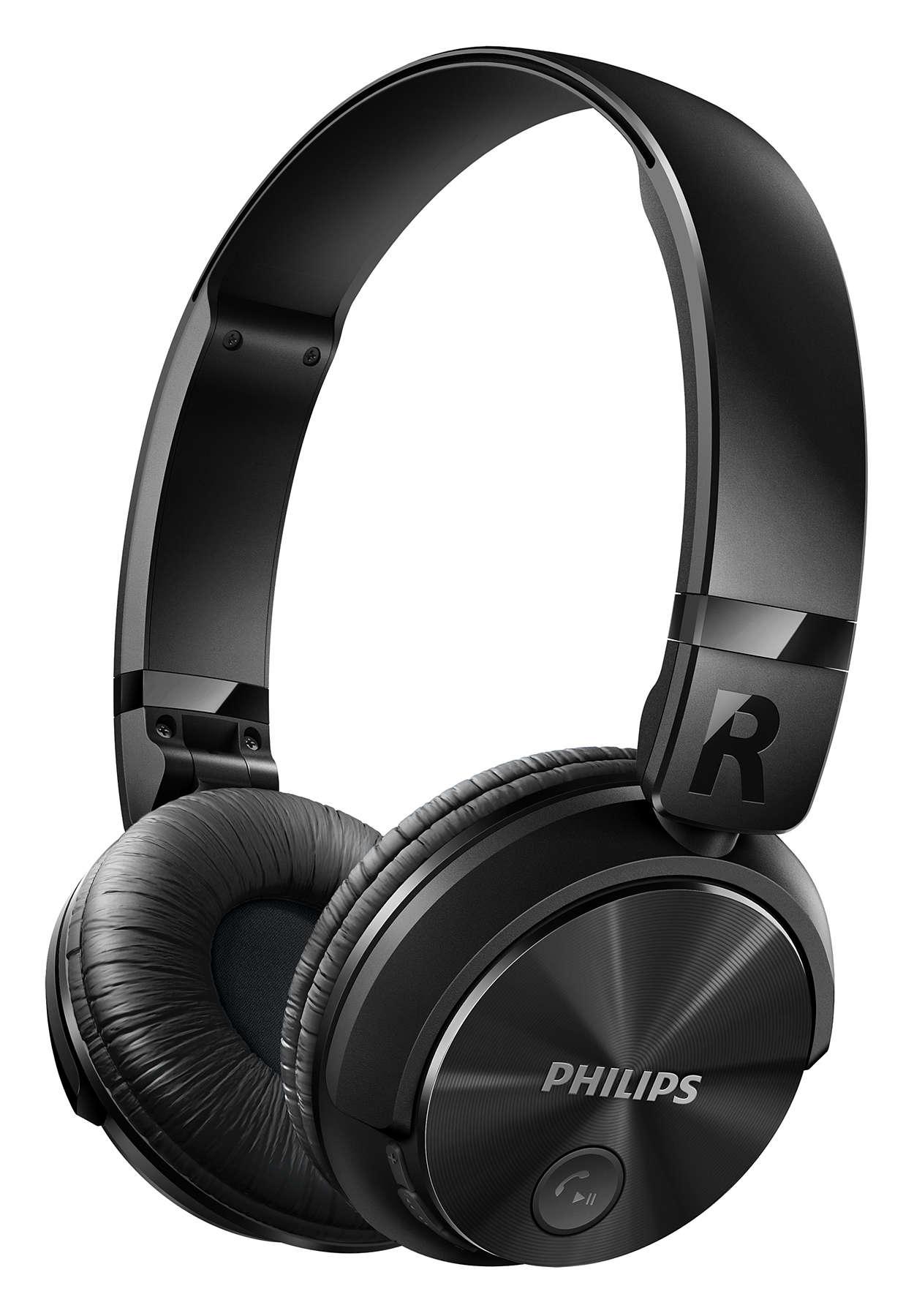 PHILIPS SHB3060BK ON-EAR BLUETOOTH HEADSET (BLACK)