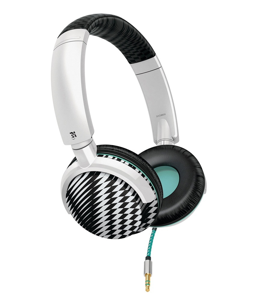 PHILIPS SHO-8800 OVER-EAR HEADPHONES (BLACK & WHITE)