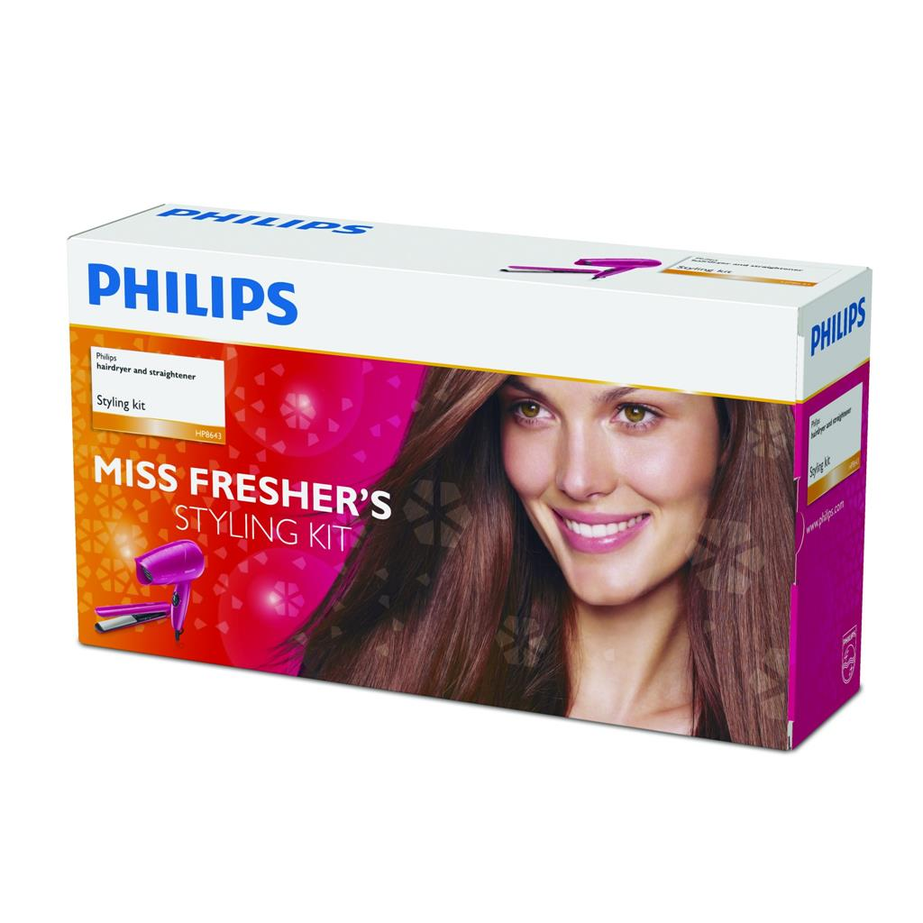PHILIPS HP8643 HAIR STYLING KIT (PINK)