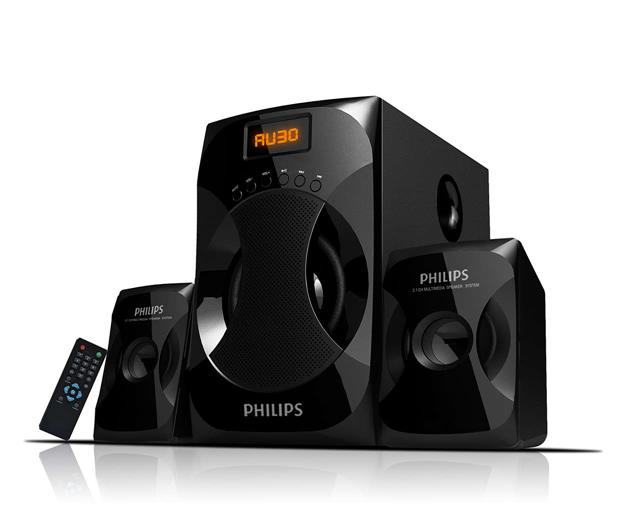 PHILIPS MMS-4040F 2.1 CHANNEL HOME AUDIO SYSTEM (BLACK)