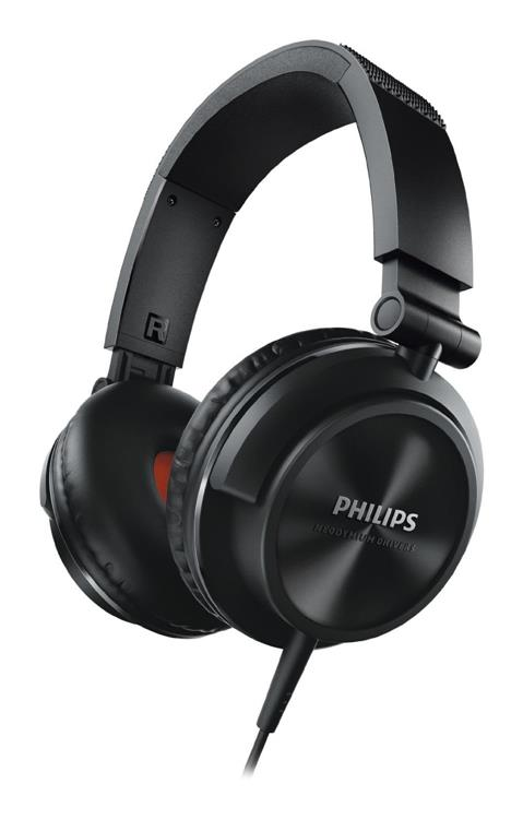 PHILIPS SHL-3210 ON-EAR HEADPHONES (BLACK)