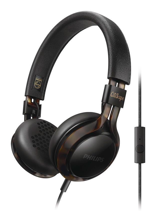 PHILIPS SHL-5705 ON-EAR HEADPHONES (BLACK)