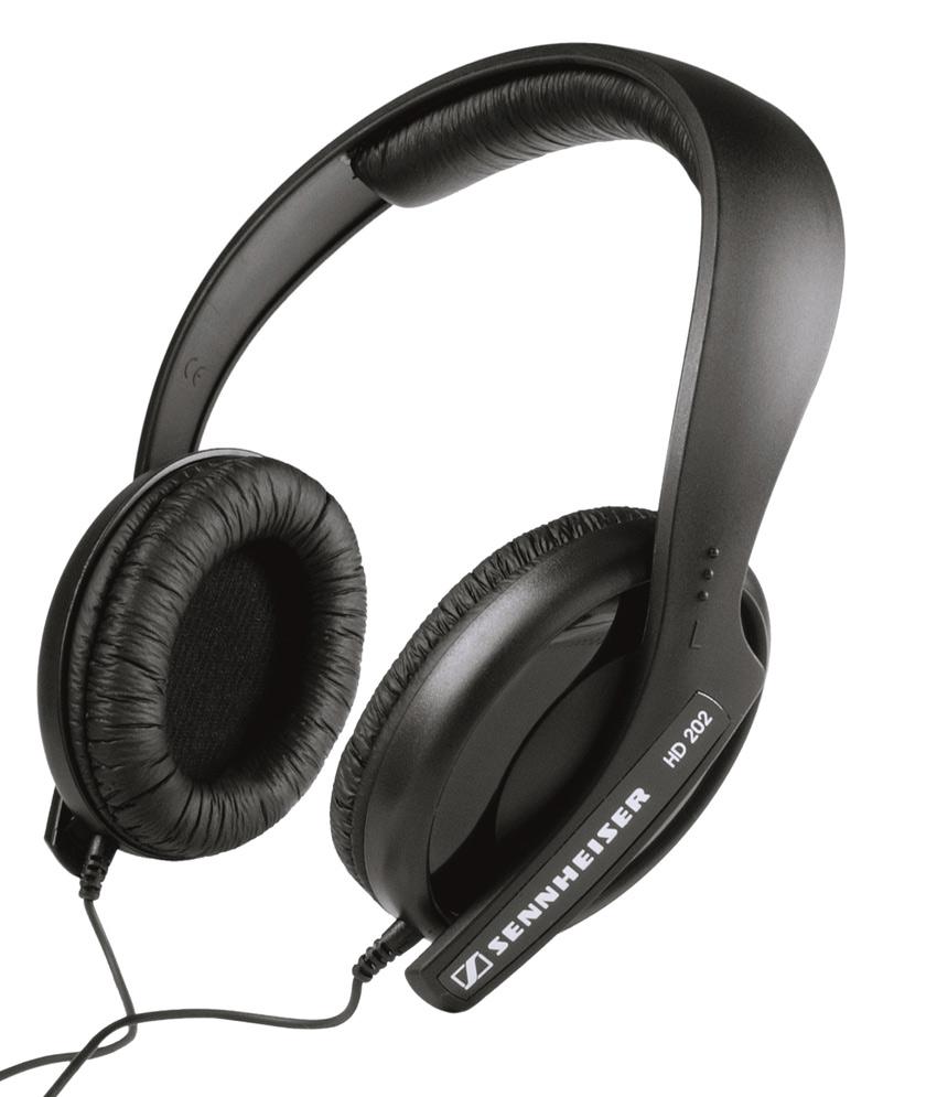 SENNHEISER HD-202 OVER-EAR HEADPHONES (BLACK)