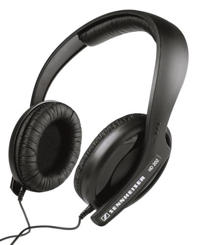 SENNHEISER HD-202 OVER-EAR HEADPHONES (BLACK)