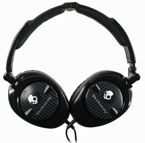 SKULLCANDY S6SKFZ-003 OVER-EAR HEADPHONES (BLACK)