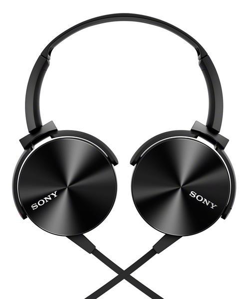 SONY MDR-XB450AP/B OVER-EAR HEADPHONES (BLACK)