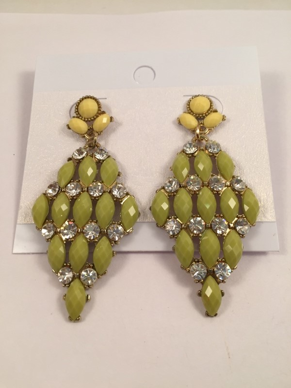 Glamorous and elegant green shaded traditional earrings