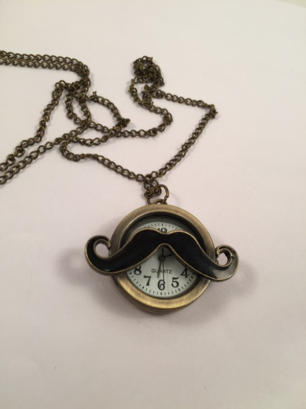 Moustache watch vey stylish and trendy long chain