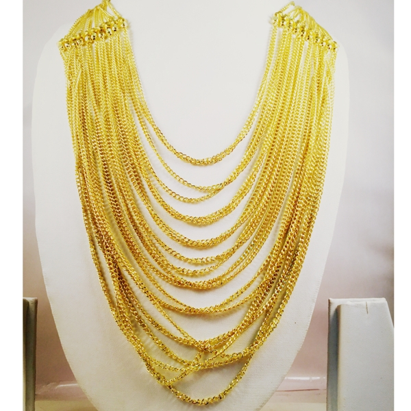 Fully filled gold chain chic and stylish necklace