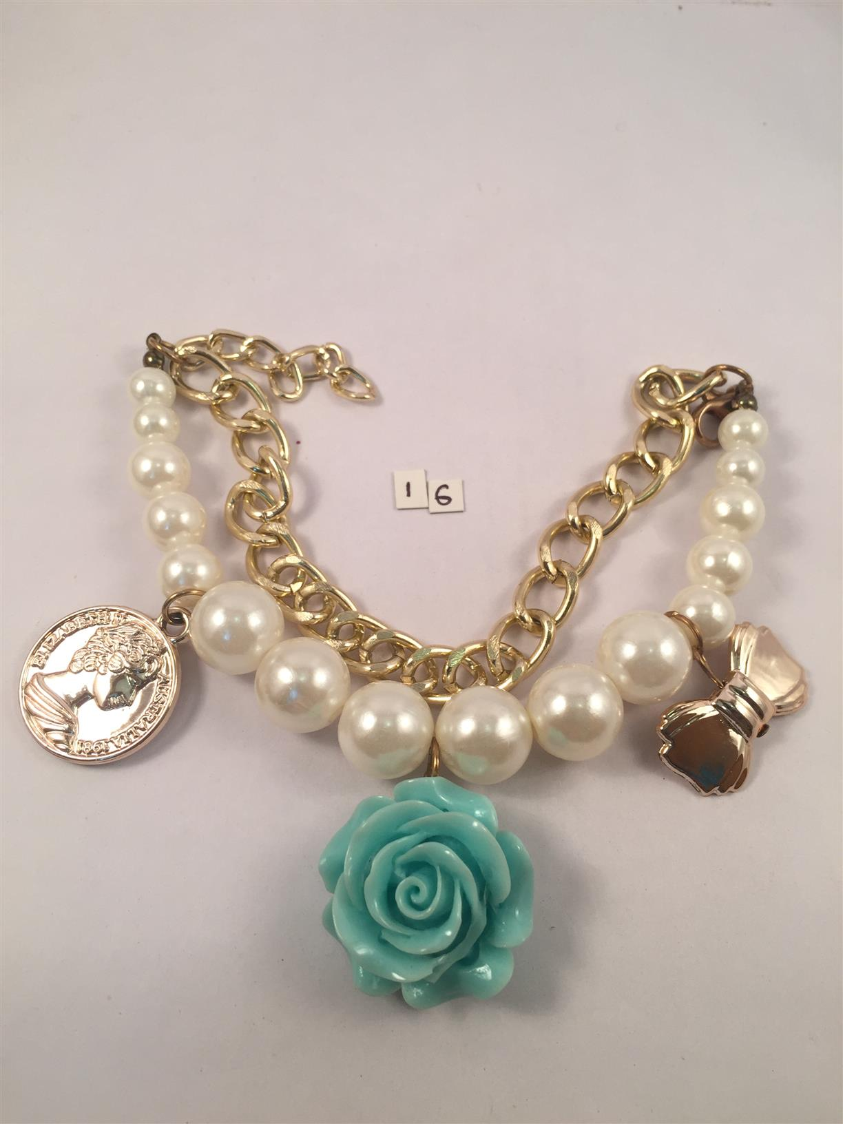Chunky chain Pearl bracelet