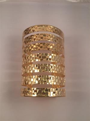 Gold toned square cut shaped cuff bracelet
