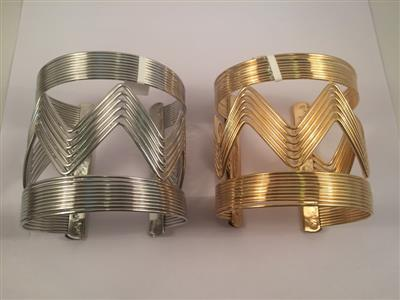 Gold toned shaped cuff bracelet