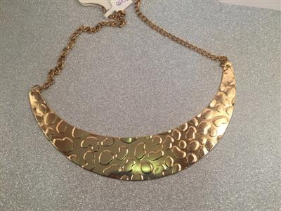 Gold toned half moon lover necklace