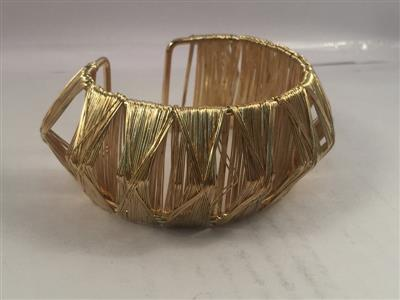 Gold toned cuff bracelet